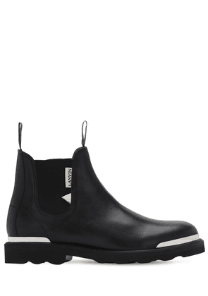 Logo Tag Leather Chelsea Boots