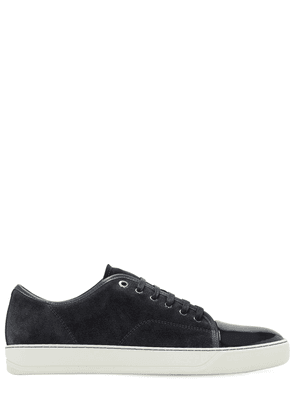 Suede Sneakers W/ Shiny Toe