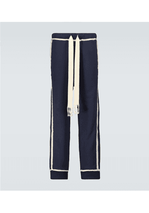 Anagram embroidered trackpants