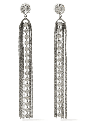 Dannijo Burnished Silver-tone Crystal Earrings Woman Silver Size --