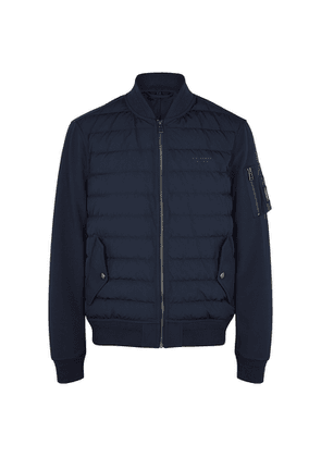 Belstaff Mantel Navy Quilted Shell Jacket