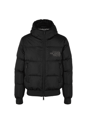 Dsquared2 Black Quilted Shell Jacket