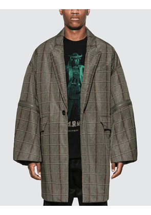 Undercover Long Check Puffer Jacket