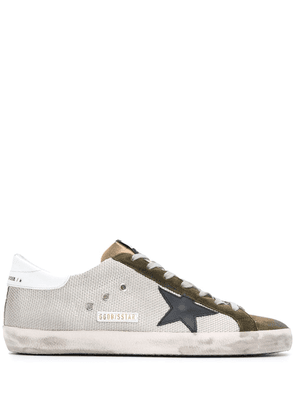 Golden Goose suede lace up trainers with star detail - White