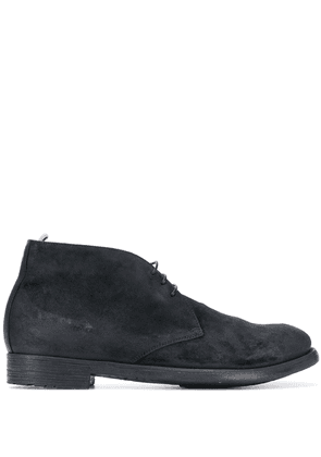Officine Creative suede lace-up ankle boots - Black