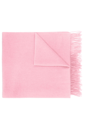 Mulberry fringed logo scarf - PINK