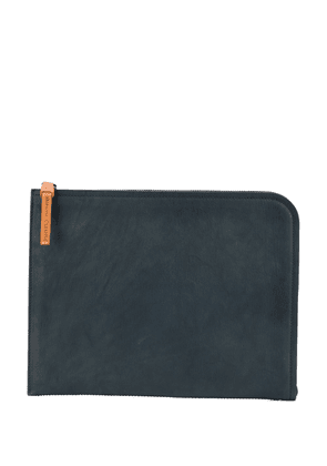 Officine Creative rounded leather sleeve - Blue