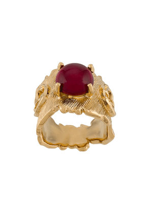 Gucci Double G irregular ring - GOLD