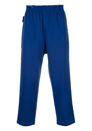 Camiel Fortgens cropped track pants - Blue