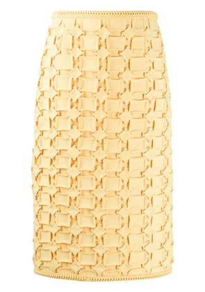 Marco De Vincenzo embroidered midi skirt - Yellow