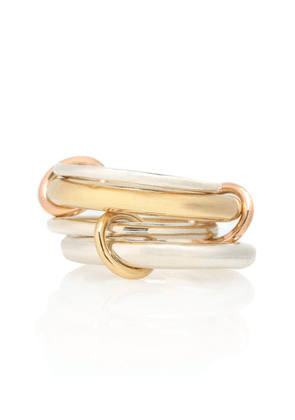 Cici 18-karat gold, rose gold and sterling silver linked rings
