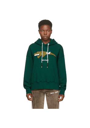 Palm Angels Green Croco Hoodie