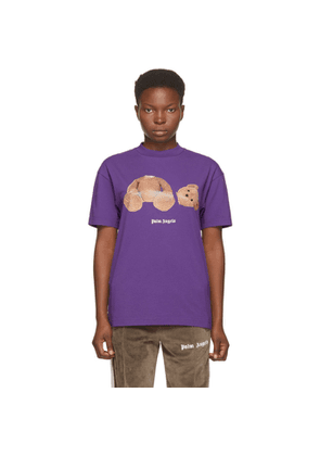 Palm Angels Purple Bear T-Shirt