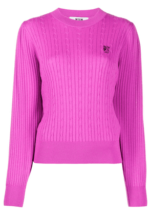 MSGM cable knit jumper - PINK