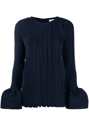 JW Anderson plisse blouse with balloon cuffs - Blue