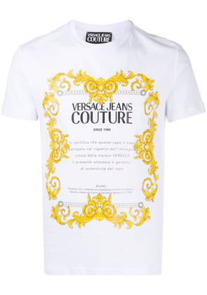 Versace Jeans Couture logo print T-shirt - White