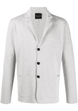 Roberto Collina knitted double pocket blazer - Grey