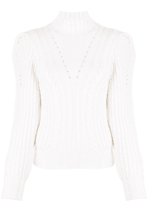 Dondup roll neck chunky knit jumper - White