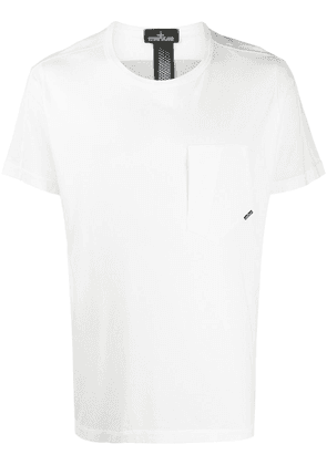 Stone Island Shadow Project chest pocket cotton T-shirt - White