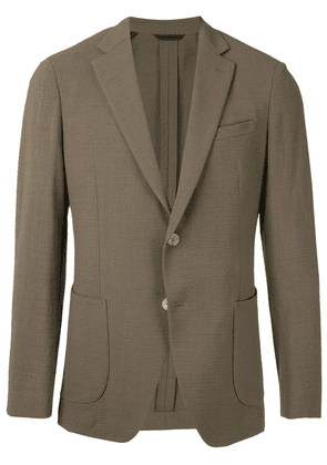 D'urban single breasted crepeon blazer - Brown