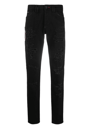 Philipp Plein super straight skull jeans - Black