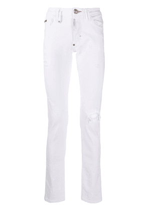 Philipp Plein Teddy Bear Straight Cut jeans - White
