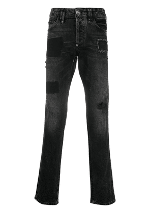 Philipp Plein Monogram super straight jeans - Grey