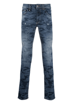 Philipp Plein Institutional super straight jeans - Blue