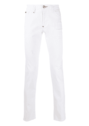 Philipp Plein Teddy bear jeans - White