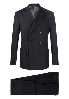 Giorgio Armani double-breasted two piece suit - Blue