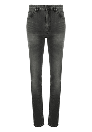 Saint Laurent whiskered skinny jeans - Black