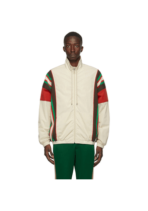 Gucci Off-White Crinkle Web Track Jacket