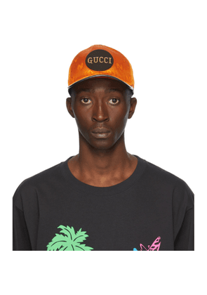 Gucci Orange Off The Grid GG Supreme Baseball Cap