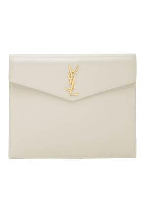 Saint Laurent Off-White Uptown Small Pouch