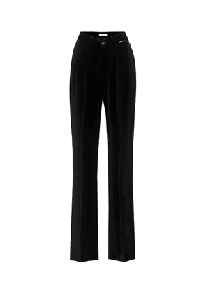 High-rise jersey pants