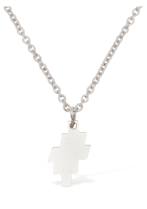 Distorted Cross Logo Long Chain Necklace