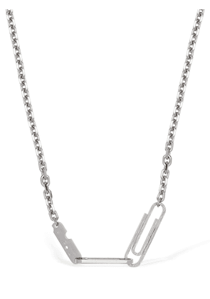 Double Paperclip Long Necklace