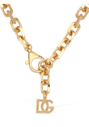 Dg Logo Charm Chunky Chain Necklace