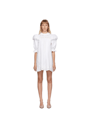 Marc Jacobs White The Victorian Smock Short Dress