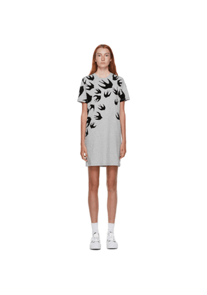 McQ Alexander McQueen Grey Swallows Short Dress