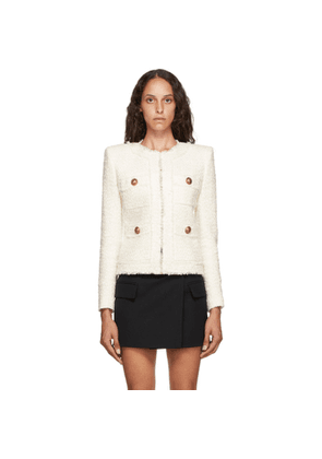 Balmain White Tweed Jacket