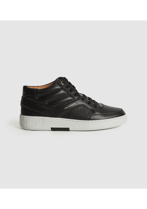 Reiss Grendon - Leather High-top Trainers in Black, Womens, Size 3