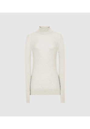 Reiss Sophie - Knitted Roll Neck in Cream, Womens, Size XS