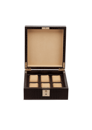 Smythson Mara Lockable Watch Box