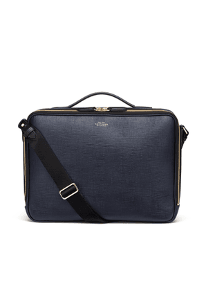 Smythson Panama Zip Around Messenger Bag
