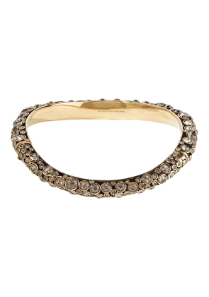 Alexander Mcqueen Gold-plated Crystal Choker Woman Gold Size S