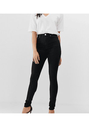 ASOS DESIGN Tall high rise ridley ''skinny'' jeans in clean black