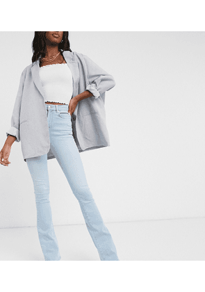 ASOS DESIGN Hourglass Tall 'Lift and Contour' flare jeans in lightwash blue