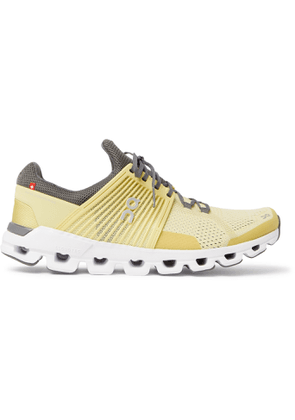 On - Cloudswift Rubber-Trimmed Mesh Running Sneakers - Men - Yellow