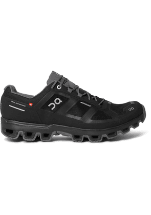 On - Cloudventure Rubber-Trimmed Mesh and Shell Trail Running Sneakers - Men - Black
